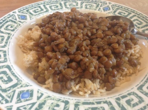 Baked Lentils & Rice