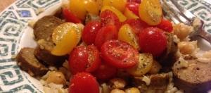 Tomato, Chickpea & Sausage Vegan Quickie2