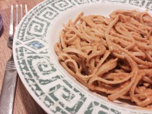 Creamy Tomato-Tahini Linguine