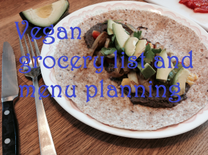 vegan grocey list and menu planning