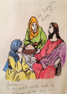 Mary, Martha & Jesus