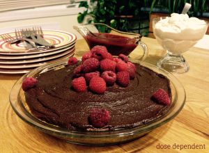 chocolate silk pie with fixin's titled