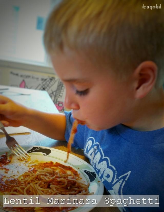 Lentil Marinara Spaghetti - Sam